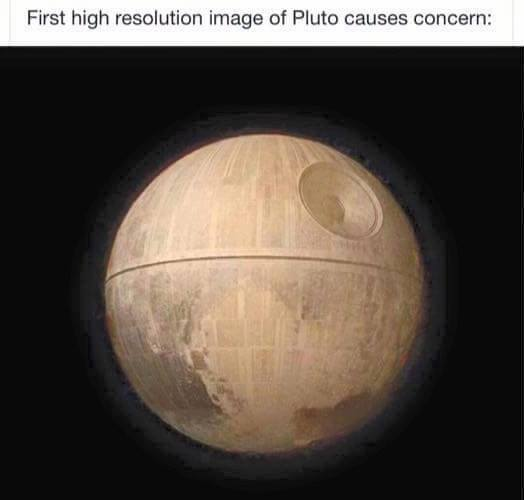 First high resolution image of #Pluto causes concern: http://t.co/q0Ocu6Hgva