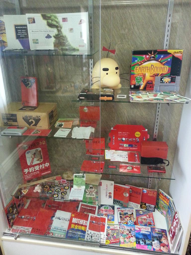 Here's just a couple cabinets of probably the most complete EarthBound collection you'll ever see. http://t.co/hEJlmZPDFj