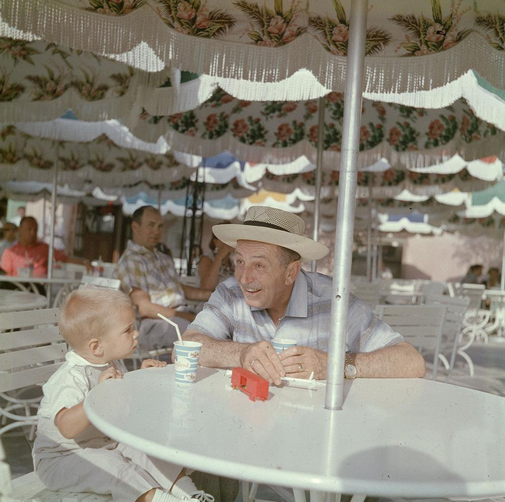 Walt Touring Disneyland in 1955 http://t.co/v0pDA5at84