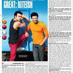 RT @priyaguptatimes: Riteish Deshmukh to Bombay Times: Adult Comedies are great @Riteishd #Bangistan http://t.co/jKv7x2vTbp