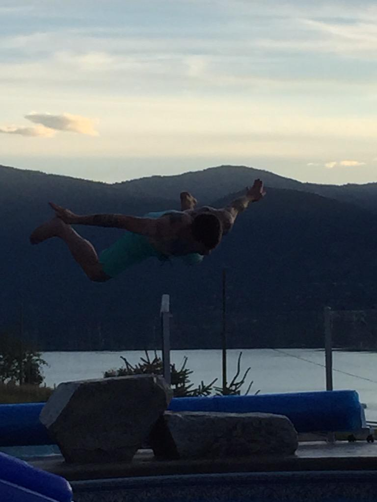 RT @krista_ference: 9.1 from the height judge. 8.0 from the form judge, toes aren't pointed. #summer fun http://t.co/AVVUN3XKrK