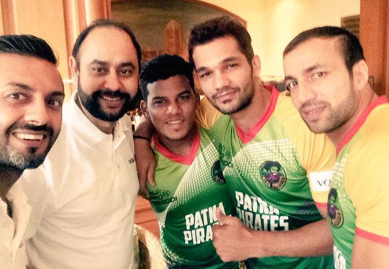 Getting ready for the @MyVolini Kabaddi Press Conference..  Recovery Partners of @PatnaPirates  #KabaddiKaBuddy http://t.co/nCa09RrFA2