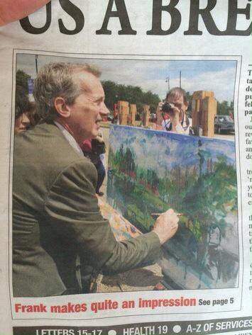 Frank was asked to do a painting for an art fair, but the local paper photoshopped in a BETTER painting! http://t.co/H6fAfmfNJr
