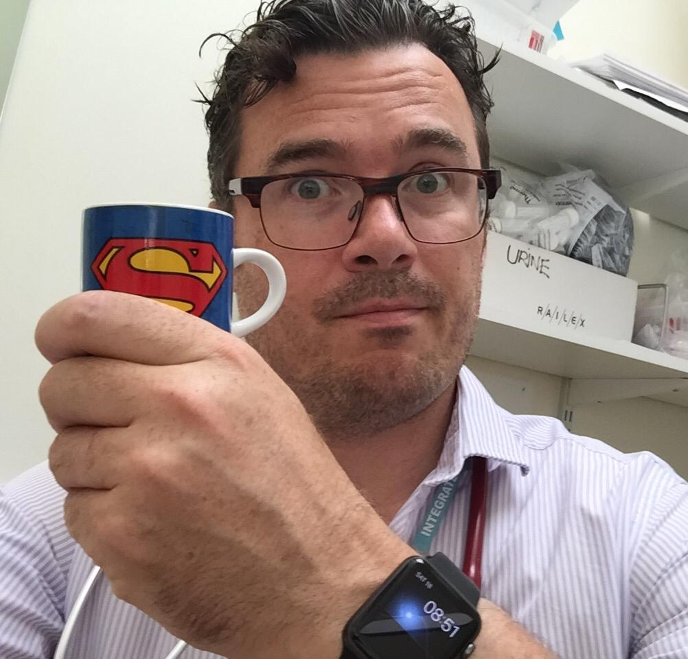 Seeing patients. Drinking coffee. Storing your comments in a box behind me #ImInWorkJeremy http://t.co/WHzJEfl5sB