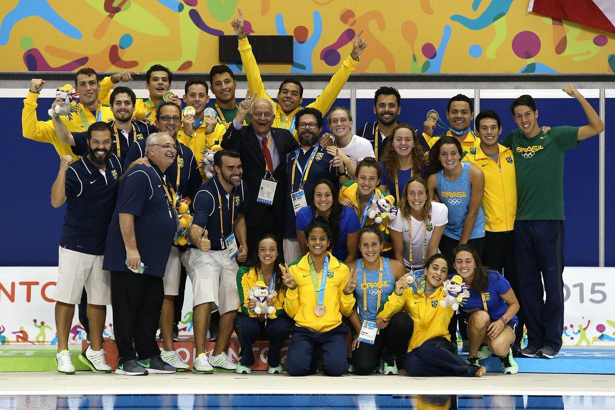 #TO2015 #PanCBDA-BRASIL!! 10 ouros,6 pratas,10 bronzes! Que venha o Mundial! Em breve mais emoções! Foto@satirosodre http://t.co/F7gcYGzbV7