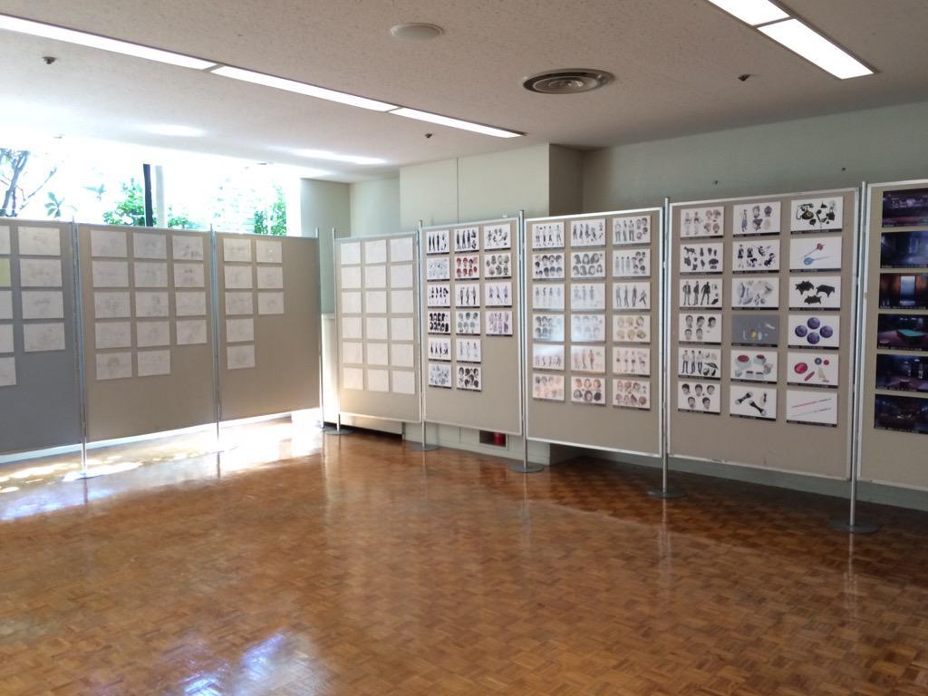 【イベント】展示スペースには設定画のパネルと複製原画を展示しております。是非見ていってください。#dp_anime