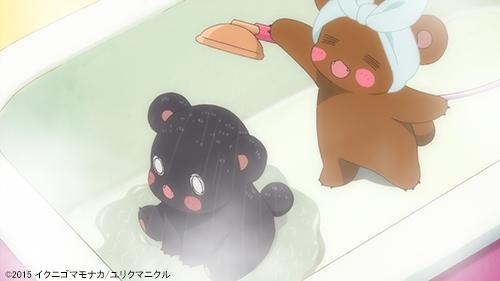 暑い~。。。汗をかいたら、シャワーでスッキリ! #yurikuma