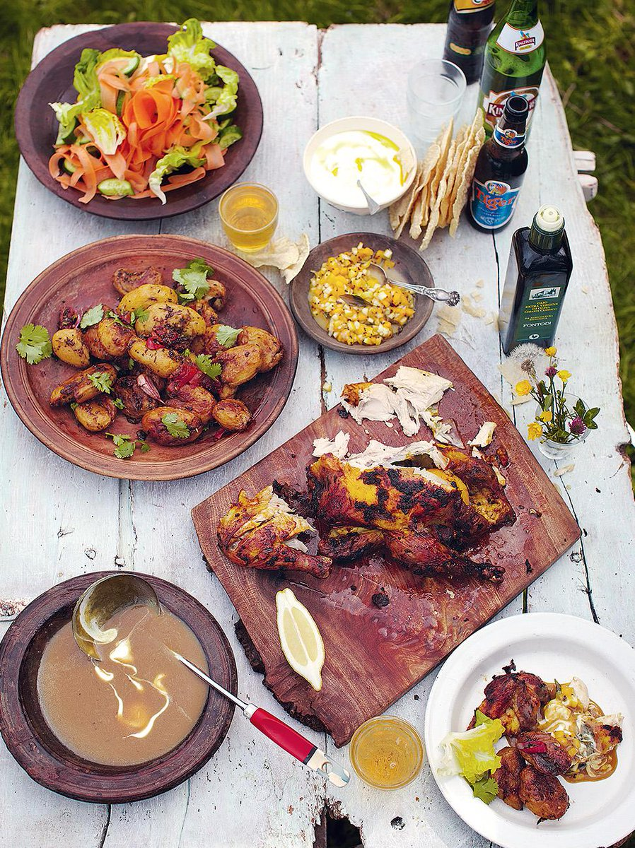 #Recipeoftheday a spicy empire roast chicken feast! http://t.co/JQLejw16xz check out the video on @JamiesFoodTube http://t.co/SgbmmbPrvD