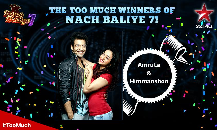 Congratulations to #NachFinale winners, @himmanshoo and @miamruta. Send in your #TooMuch wishes for them! http://t.co/RMhhPqomUK