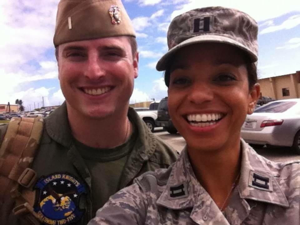 Meet my son @McCainJack and his wife @reneeitchka Two young folks that are serving their country proudly. http://t.co/tq6dA1WSdw