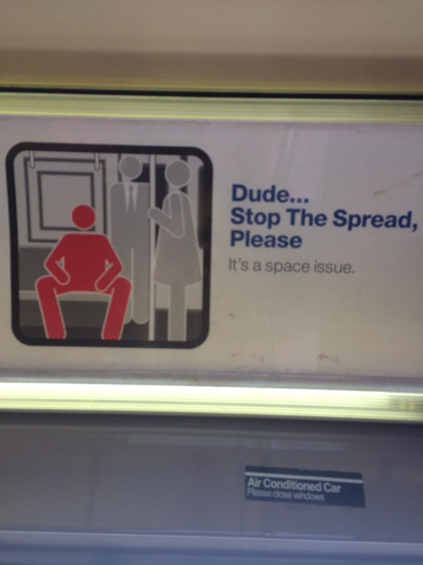 Love love love this sign on the ny subway http://t.co/KkwAOI4mzr