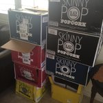 Still eating this @theskinnypop sent to me by @MikeEsterman who sent it for my bday. Thanks so much were hooked!