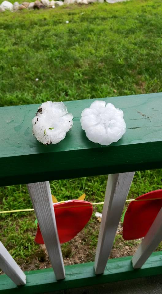 Hail from Lebanon Maine, courtesy Angela Glover Deshaies on FB. @WCSH6 http://t.co/d6GpMsDtvD