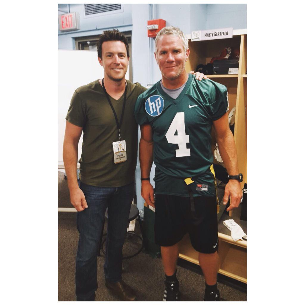 Stoked to be a part of #BrettFavresLegendsGame at #CampRandallStadium @Favre4Official #BrettFavre #Packers http://t.co/ZZvajaYneu