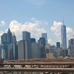 Very hot in Manhattan but the view from Brooklyn Bridge isn't bad....... http://t.co/CAUHKrsKlK