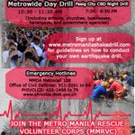 Join the #MMShakeDrill on July 30, 2015 10:30AM. Log on to http://t.co/ecs0mjfK4G for more details. Ten-4. #mmda http://t.co/Sh3I6XqsAO