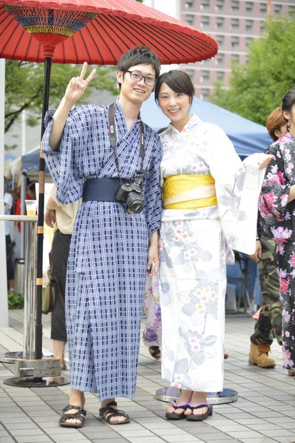 美男美女カップルですね♪この後も楽しんでください!! #梅田ゆかた祭コレクション http://t.co/qfzyhnLPKU