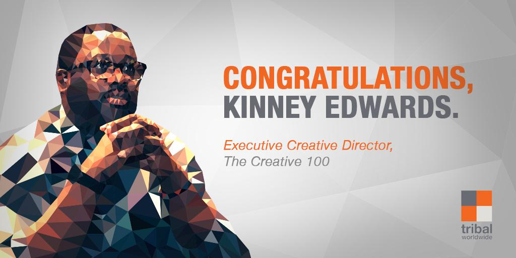 ECD Kinney Edwards has been named to the @adweek Creative 100! We can't fit enough congrats into 140 characters. http://t.co/FjDRiYPFi7