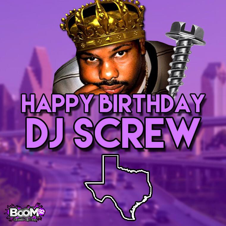 The Houston legend would have been 44 today. #RIPDJScrew http://t.co/wy5Pt1fwnY