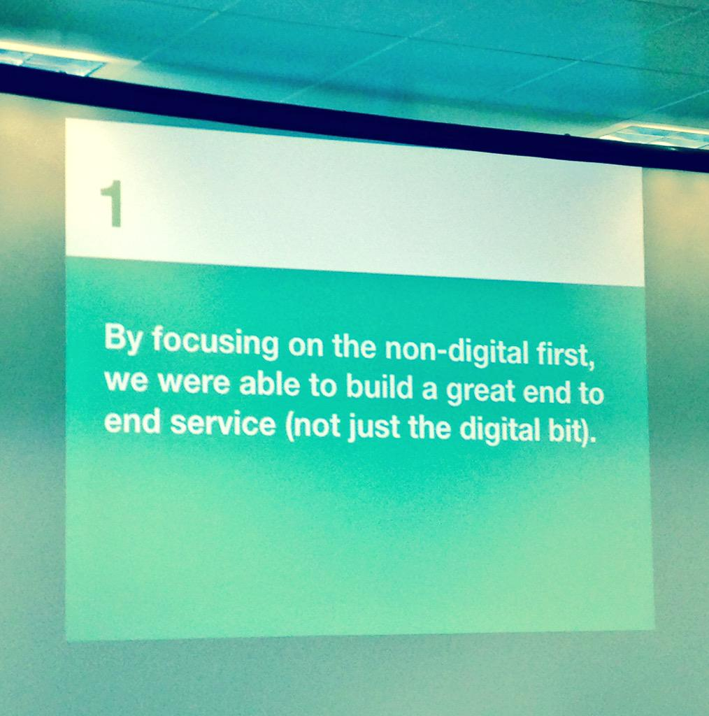 There's a great slide. Learnings shared at the #gdsteam cross-govt user research meetup. http://t.co/w5uOBeD39d