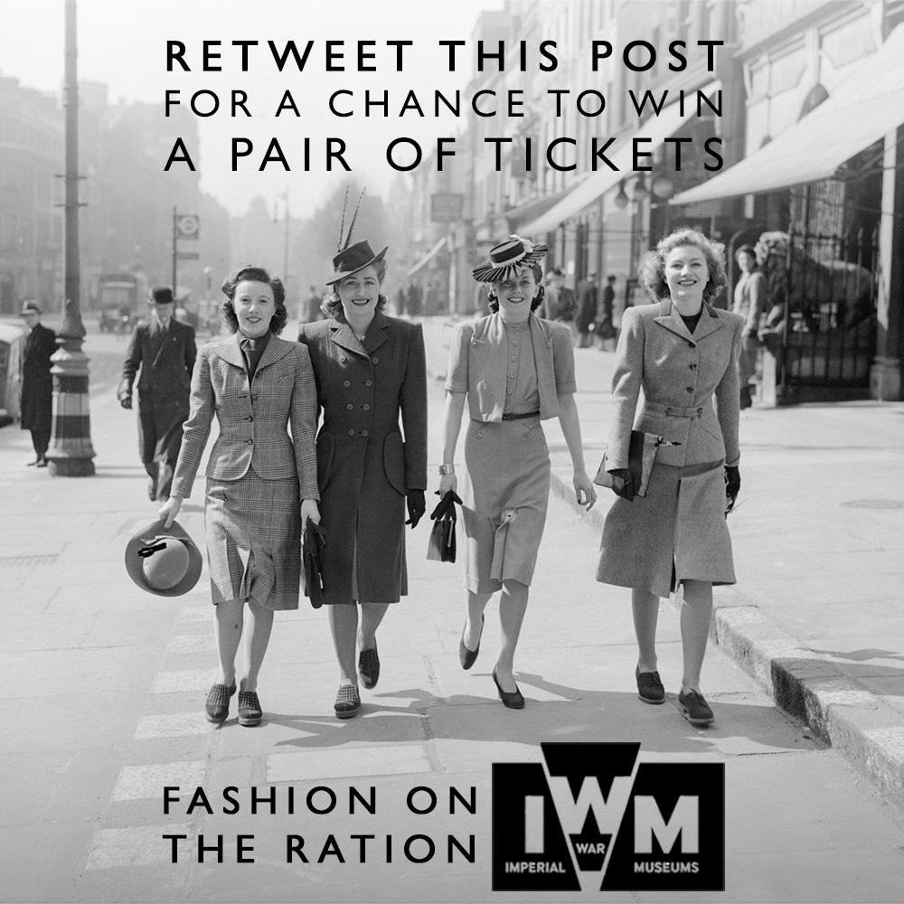 Retweet this post for your chance to win tickets to Fashion on the Ration at the @I_W_M - T&Cs http://t.co/Ri9M3Zeg8R http://t.co/YEuIEHyJ0V