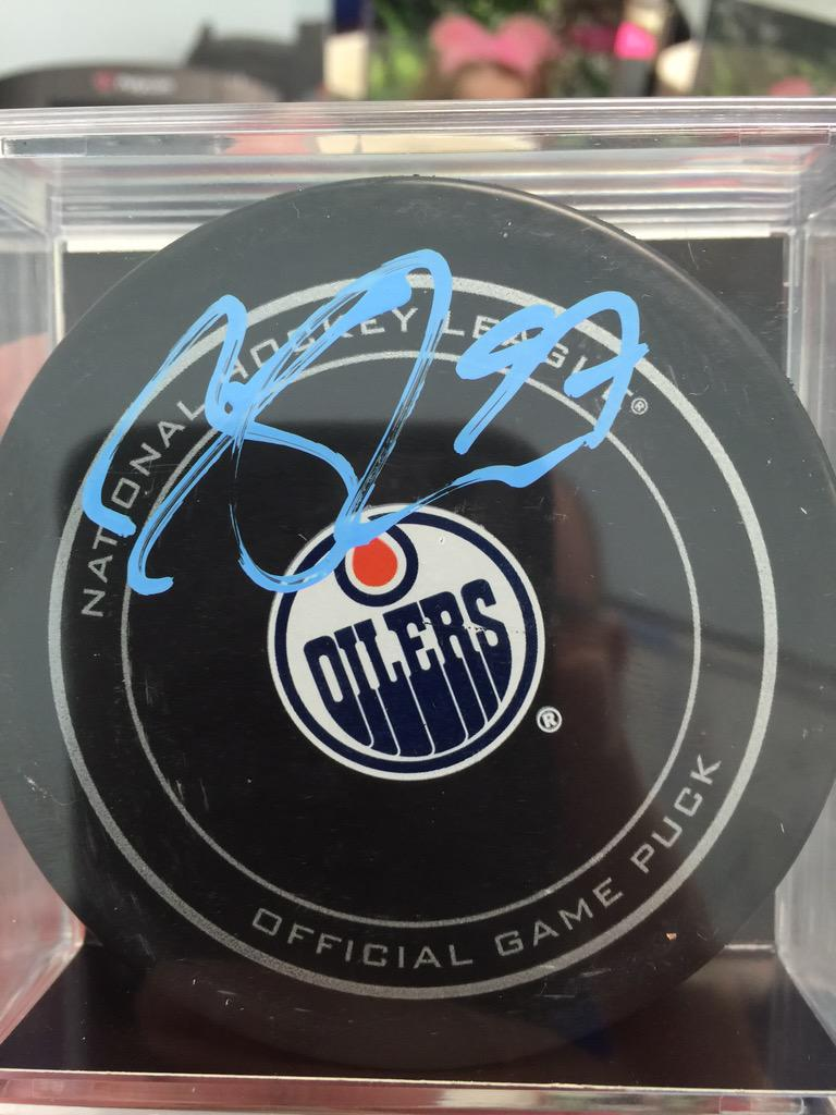 Autographed puck