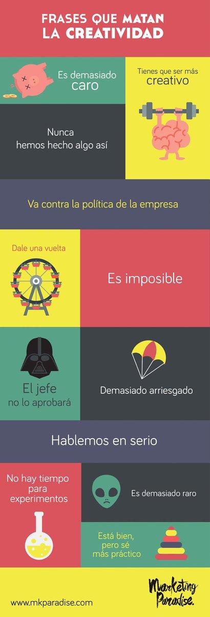 Frases que matan la Creatividad #infografia #infographic #citas#quotes http://t.co/KlQl3YvFbY http://t.co/VN47VDvJnJ