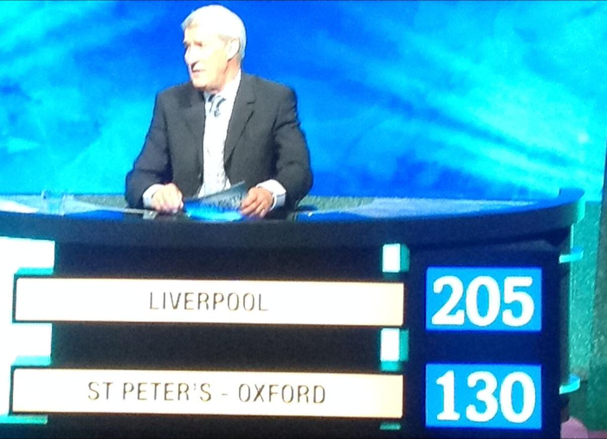 Look at that score! Way to go team Liverpool, fingers crossed for the next round! #UniversityChallenge http://t.co/RKuiNeLjqE