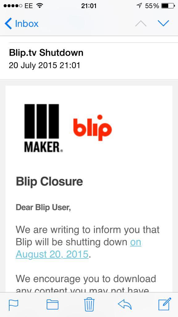 Bye bye blip! http://t.co/R1aBHGdgMY