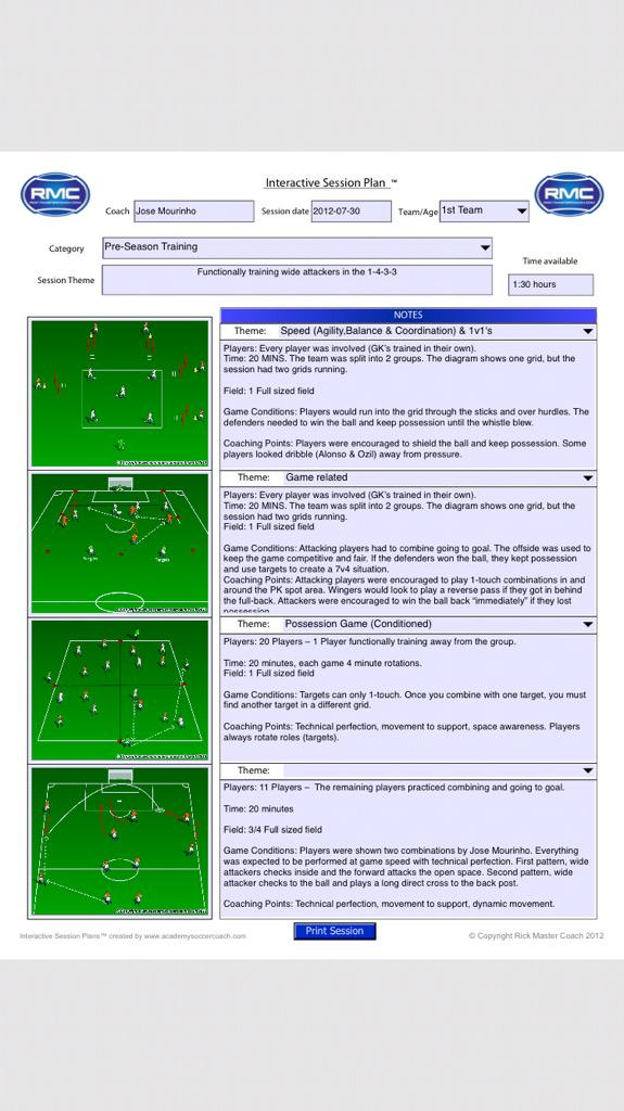 Updating some sessions, these two are from my @NSCAA #JoseMourinho special topics course #TrueMasterCoach http://t.co/gJlBxoli3Y