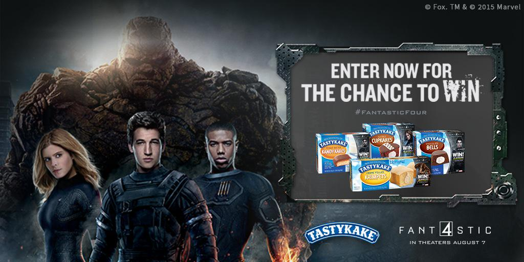 You could win an adventure with #Tastykake & @FantasticFour! NPN, U.S, 18+ Enter: http://t.co/DENGHnTlKl http://t.co/vz4xIeQA0Y
