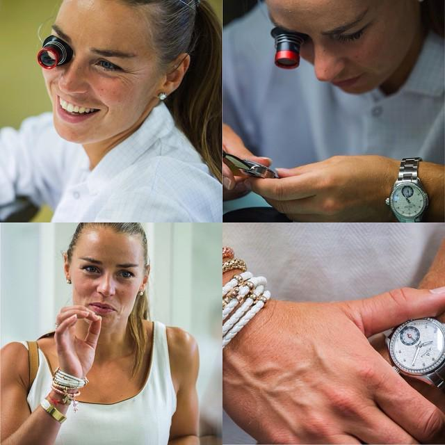 Tina Maze @tinamaze83 came to visit us last week. We had a great and fun day! Tina, used to focus and precision, de… http://t.co/ua130LIT22