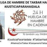 Nuestra Secretaria General, @MeryColl76, en huelga hambre d 24h exigiendo #JusticiaparaHaidala http://t.co/Xw6gSh2tzn http://t.co/WEKaqTKrss