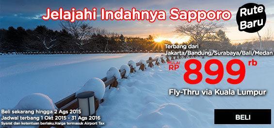 Pesan sekarang sampai 2 Agustus 2015, terbang 1 Oktober 2015-31 Agustus 2016.  Pesan di