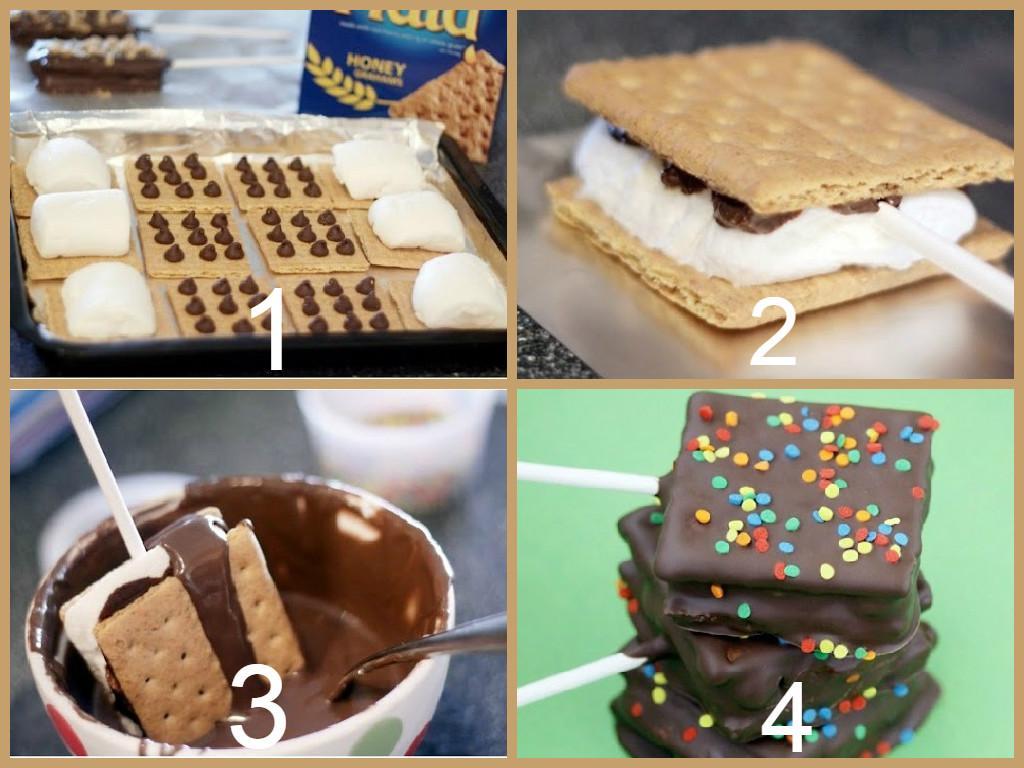 فكرة #حلى سهل، تحتاجين حبيبات شوكولاتة، بسكويت شاي مربع، مارشميلو وشوكولاتة مذوبة  #ريتويت #السعودية #غرّد_بصورة http://t.co/9VAIWKqirP