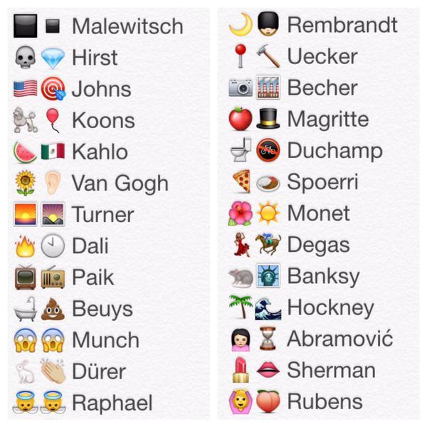 #Emoji X #Kunstgeschichte. Update meiner Favs. Thanx 4 the idea @arte_fakt @FJ_Murau & collab @bosch @kulturtussi uvm http://t.co/j9jWDkU2DG