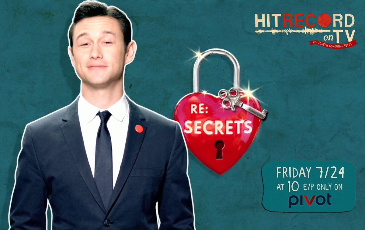 RT @hitRECord: This Friday's new episode of #HITRECORDonTV is 'RE: Secrets.' Catch a sneak peak of it here - https://t.co/5vgY6OGYHE http:/…
