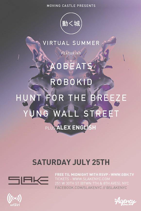 Sat @MVNGCSTL w @aobeats @robokidmusic @huntforthe @YungWallstreet at @SlakeNYC tix http://t.co/vCiZDy6kzW http://t.co/o1v7amco0a