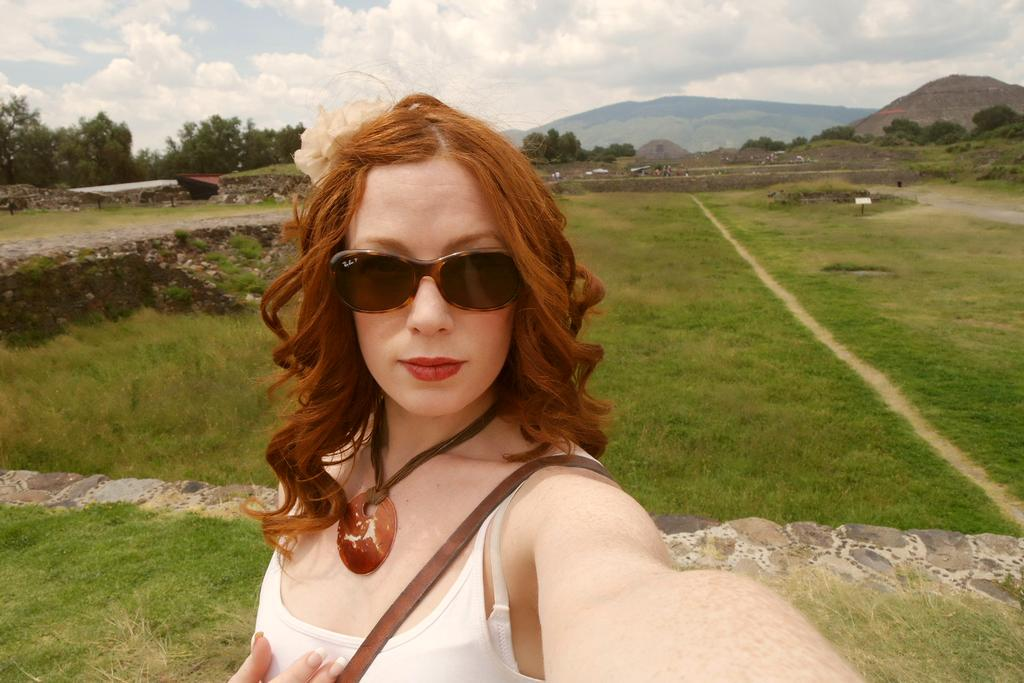 #hot and #SunnyDay at #Teotihuacan, #Mexico. Got a little #sunburn & extra #freckles! #RedBunnyHops