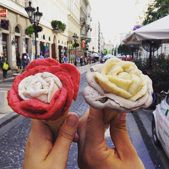 We didn't 't think gelato in Budapest could look as good as it tastes…. we were wrong! @martinaostsjo http://t.co/cHSQes0Ja6