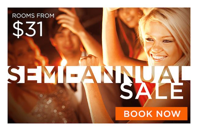 Our Semi-Annual Sale is on!  Book now for rates from only $31. http://t.co/38Kf1nM52z http://t.co/CS9yCkE35k
