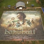 RT @GWR: See how the world's largest poster - 4,793.65 m² - was created for @BaahubaliMovie http://t.co/2FbChJgARR #Baahubali