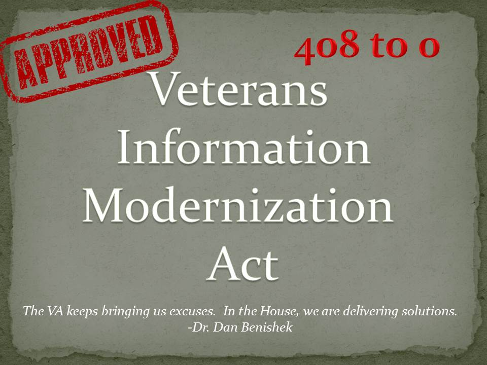 Last night, the House unanimously passed my bill to improve the VA! @HouseVetAffairs @HouseGOP http://t.co/YotsrMFrPF