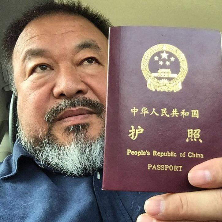 """Today I received a passport"" -@aiww http://t.co/RzI0BJt2Q0"