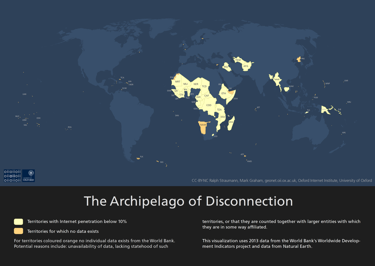 Who isn't online? The Archipelago of Disconnection, mapped by @GeonetProject .. http://t.co/63Mpkg2Nmy http://t.co/LOU3rO16IA