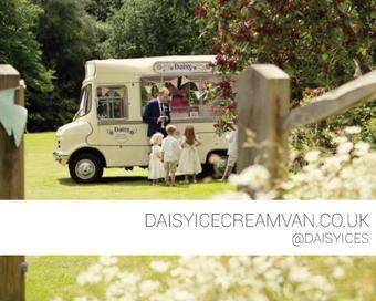 What's vintage, fabulous, trendy & sweet? It's @daisyices ice cream van & her range of delicious treats! #weddinghour http://t.co/SwJ7z5BeZN