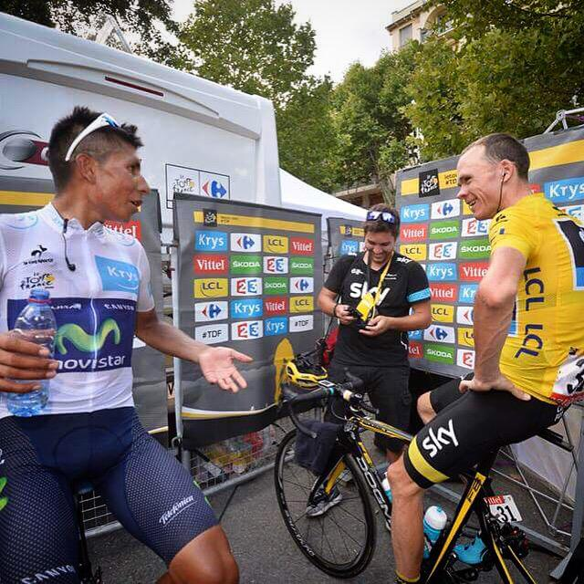 At the end of the day we're just two guys who love riding our bikes... #TdF2015 @NairoQuinCo  @letour http://t.co/P8ogMYO9CL
