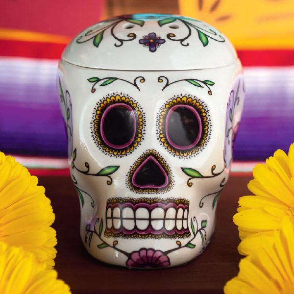 Presenting our Calavera Warmer! So beautiful. #SFR2015 http://t.co/BYSy5xEb9l