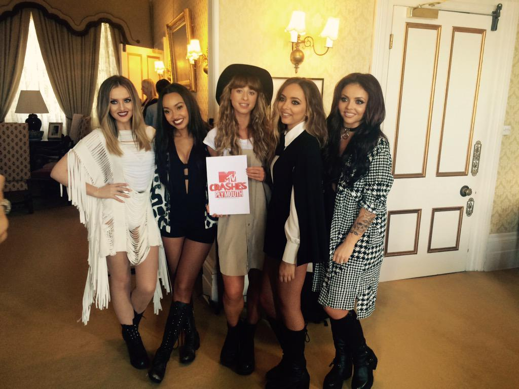 The beautiful @LittleMix & @iamfoxes at @MTVCrashes press junket. Can't wait for the show later! @MTVCrashesPlymouth http://t.co/mTS9TSw9Rr