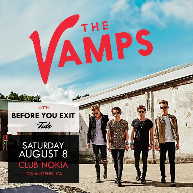 Low ticket warning! If you want to see @TheVampsband LIVE at @clubnokia get your tickets. http://t.co/TJw4lPwbbo http://t.co/ovt3ZWKKNo